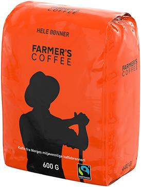 274x364Farmers Coffee Fairtrade Proff hele bønner 6x600g_1L